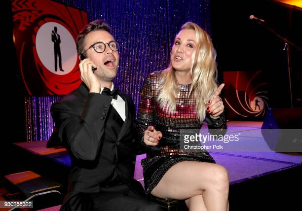 Paw Works Celebrity Ambassador Brad Goreski and Paw Works Celebrity Ambassador/Board Member Kaley Cuoco attend the James Paw 007 Ties Tails Gala at...