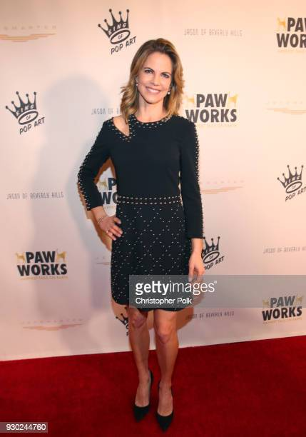 Paw Works Celebrity Ambassador Natalie Morales attends the James Paw 007 Ties Tails Gala at the Four Seasons Westlake Village on March 10 2018 in...
