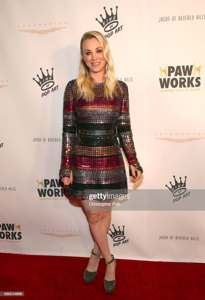 Paw Works Celebrity Ambassador/Board Member Kaley Cuoco attends the James Paw 007 Ties & Tails Gala at the Four Seasons Westlake Village on March 10, 2018 in Westlake Village, California.