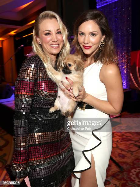 Paw Works Celebrity Ambassador/Board Member Kaley Cuoco Bear and singer Katharine McPhee attend the James Paw 007 Ties Tails Gala at the Four Seasons...