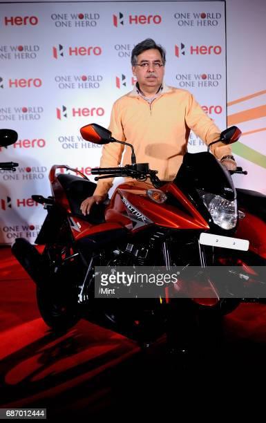 Pawan Munjal CEO MD Hero MotoCorp Ltd at the launch of hero bikes at Oberoi in New Delhi