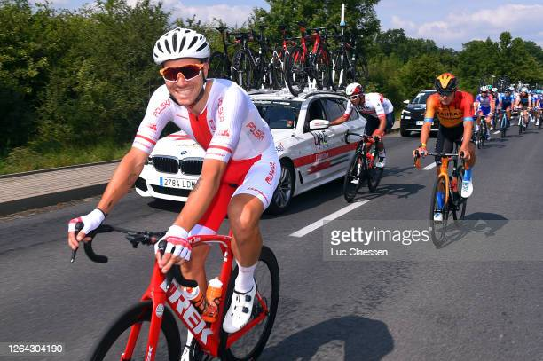 Pawel Bernas of Poland and Team Poland / Heinrich Haussler of Australia and Team Bahrain - Mclaren / during the 77th Tour of Poland 2020, Stage 2 a...