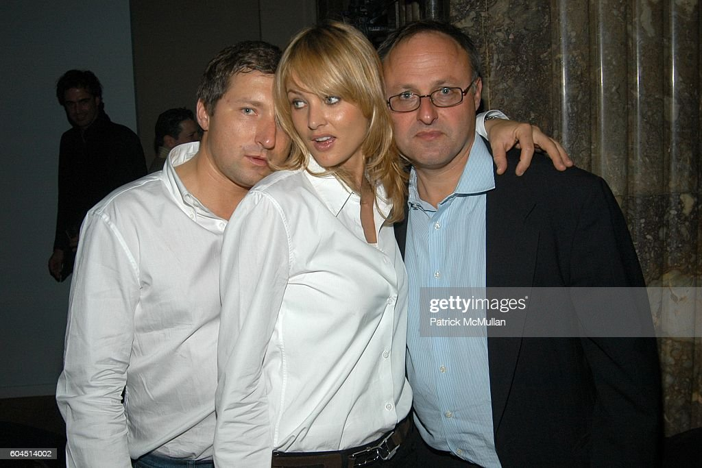 Pawel Maczan, Magdalena Wrobel and Werner Nikowitz attend ANDRE BALAZS Presents The Grand Opening of the BEAVER BAR at THE BEAVER BAR & SALES OFFICE on November 28, 2006 in New York City.