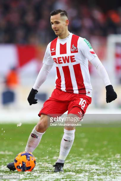 Pawel Olkowski of FC Koeln in action during the Bundesliga match between 1 FC Koeln and SportClub Freiburg at RheinEnergieStadion on December 10 2017...
