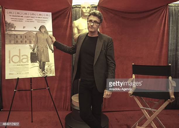 Pawel Pawlikowski for the film ''Ida'' of Poland one of the directors of Oscarnominated foreign language films poses on the red carpet ahead of the...