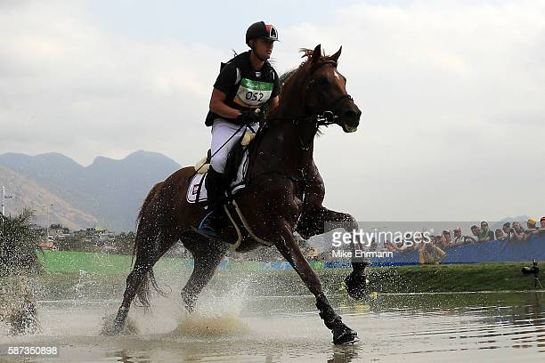 Pawel Spisak of Poland riding Banderas competes during the Cross Country Eventing on Day 3 of the Rio 2016 Olympic Games at the Olympic Equestrian...