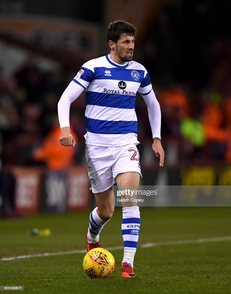 Pawel Wszolek of QPR during the Sky Bet Championship match between Sheffield United and Queens Park Rangers at Bramall Lane on February 20, 2018 in Sheffield, England.