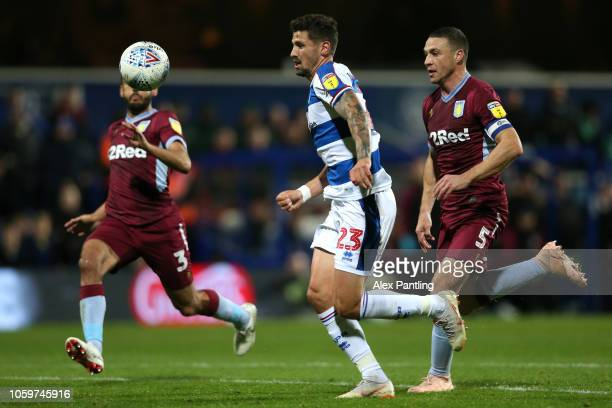 Pawel Wszolek of QPR scores his sides first goal during the Sky Bet Championship match between Queens Park Rangers and Aston Villa at Loftus Road on...