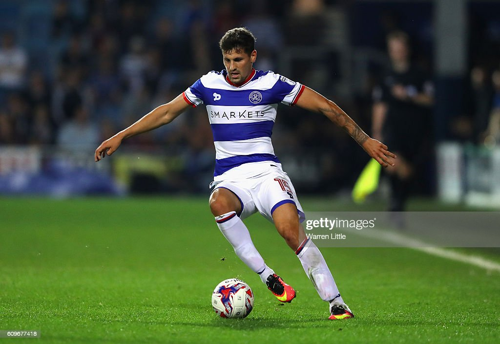 Pawel Wszolek of Queens Park Rangers in action during the EFL Cup Third Round match between Queens Park Rangers v Sunderland at Loftus Road on September 21, 2016 in London, England.