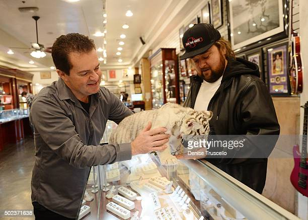 Pawn Star Chumlee invited Crystal , from the Dirk Arthur Wild Magic show at the Westgate Las Vegas Resort & Casino, to the World Famous Gold & Silver...
