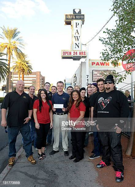Pawn Stars cast Rick Harrison Stephanie Maes Mike Siegel Donna Millwood and Austin Chumlee Russell are seen as Pawn Stars Gold Silver Pawn Shop...