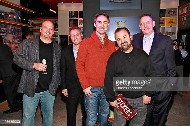 'Pawn stars' Rick Harrison AE EVP Networks Steve Ronson 'American pickers' Mike Wolfe and Frank Fritz and History programing Senior Vice President...