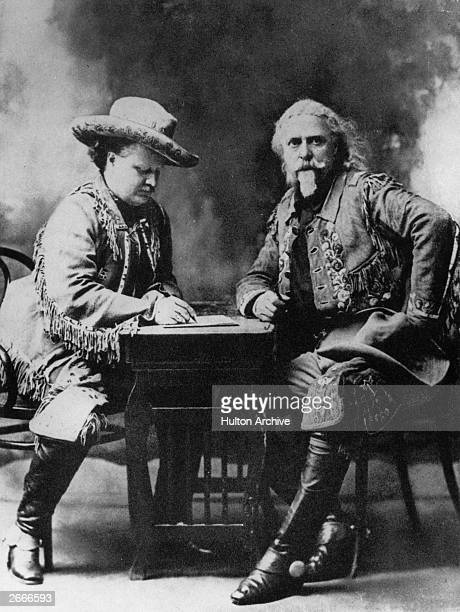 Pawnee Bill and on the right American guide and showman Buffalo Bill Cody