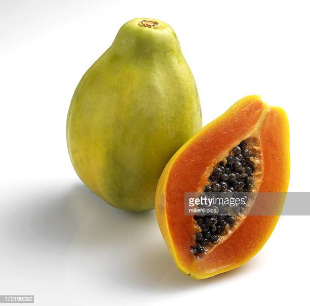 pawpaw - papaya stock photos and pictures