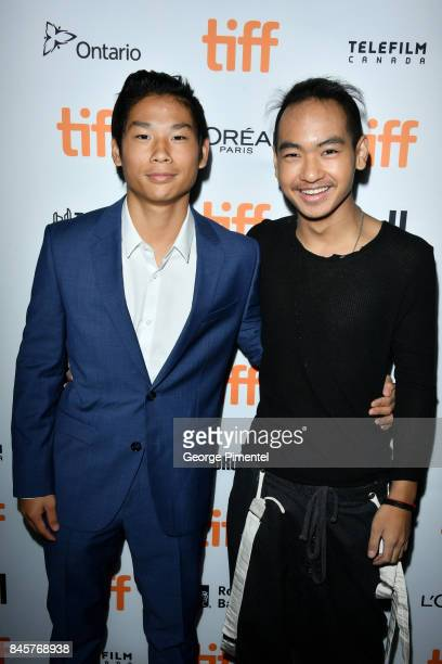 Pax JoliePitt and Maddox JoliePitt attend the First They Killed My Father premiere during the 2017 Toronto International Film Festival at Princess of...