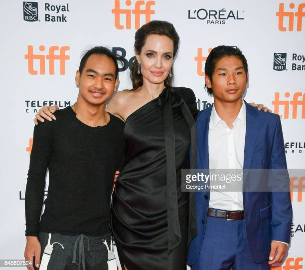Pax JoliePitt Angelina Jolie and Maddox JoliePitt attend 2017 Toronto International Film Festival First They Killed My Father Premiere at Princess of...