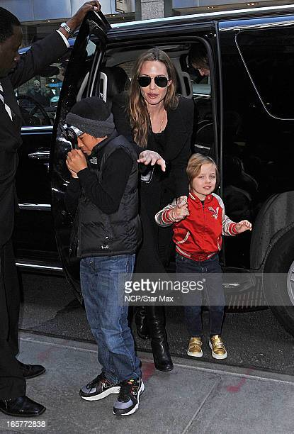 Pax Thien Angelina Jolie Knox Leon as seen on April 5 2013 in New York City