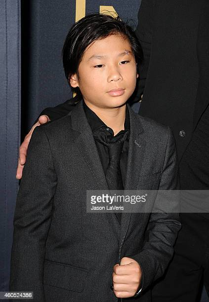 "Pax Thien Jolie-Pitt attends the premiere of ""Unbroken"" at TCL Chinese Theatre IMAX on December 15, 2014 in Hollywood, California."