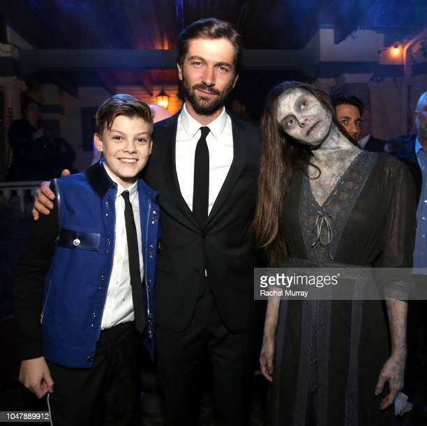 Paxton Singleton and Michiel Huisman attend Netflix's The Haunting of Hill House Premiere afterparty at No Vacancy on October 8 2018 in Hollywood...