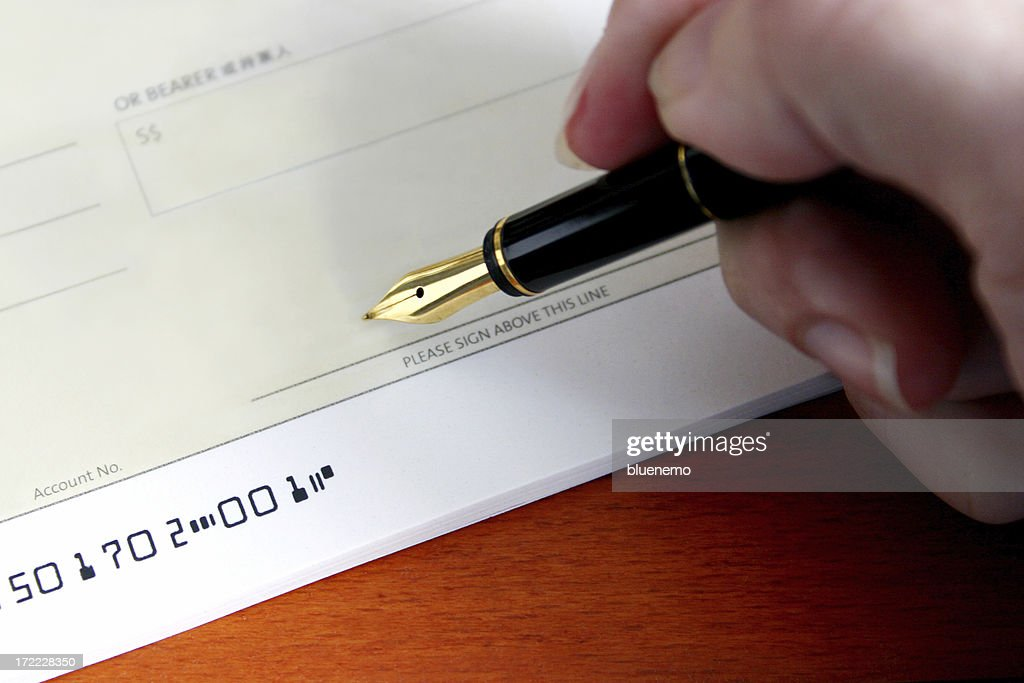 Pay Cheque : Stock Photo