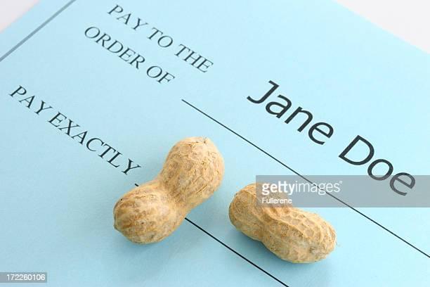 Pay Exactly Peanuts!