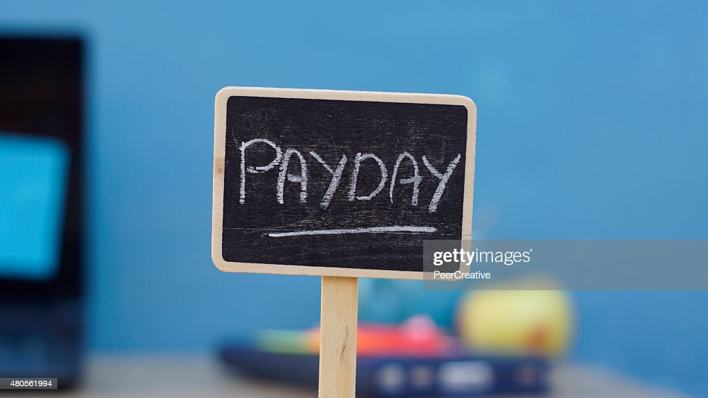 Payday written : Stock Photo