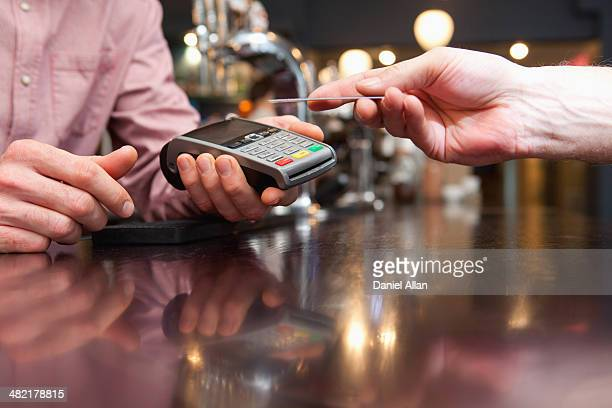 Paying bill by credit card