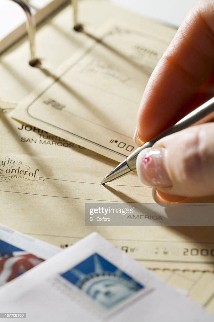 Pagar facturas. : Foto de stock