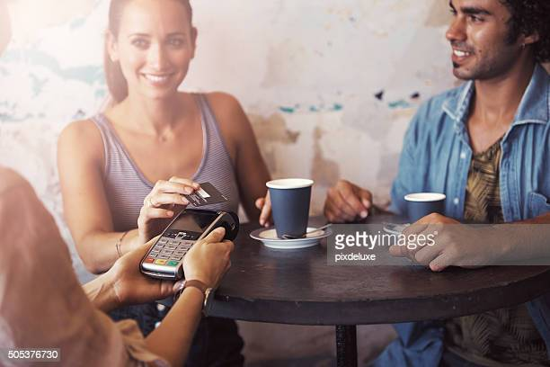Paying for coffee quickly and conveniently