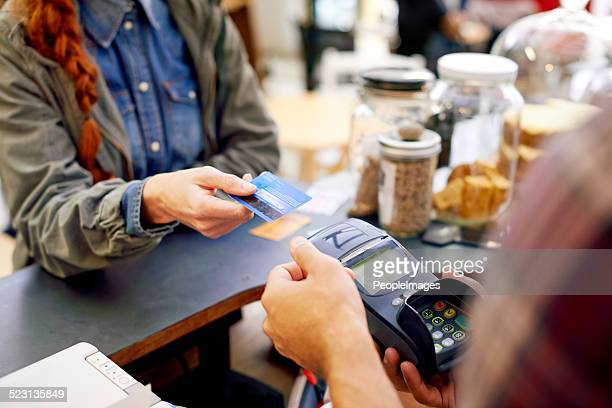paying made easy - credit card reader stock pictures, royalty-free photos & images