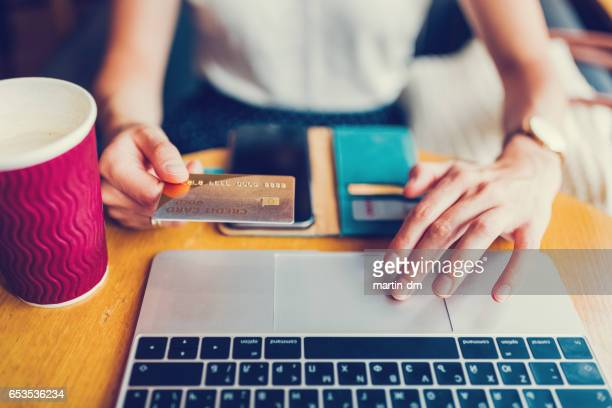 paying online with credit card - the internet stock pictures, royalty-free photos & images