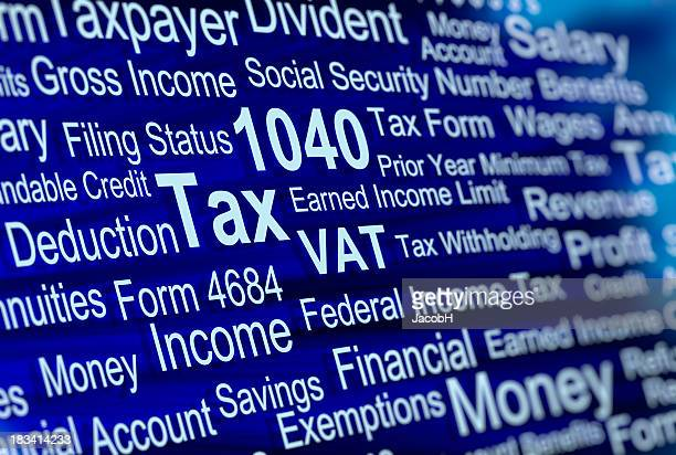 paying tax - 1040 tax form stock photos and pictures