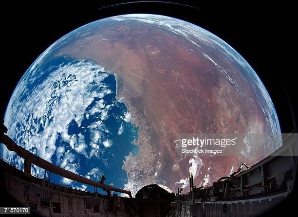 Payload bay camera view of Australia
