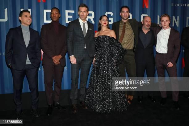 "Payman Maadi, Corey Hawkins, Ryan Reynolds, Adria Arjona, Manuel Garcia Rulfo, Lior Raz attend Netflix's ""6 Underground"" New York Premiere at The..."