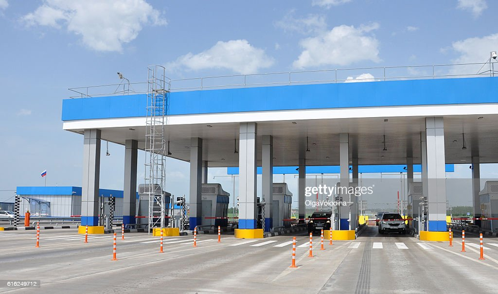 Payment points on  highway M4 Don : Foto de stock