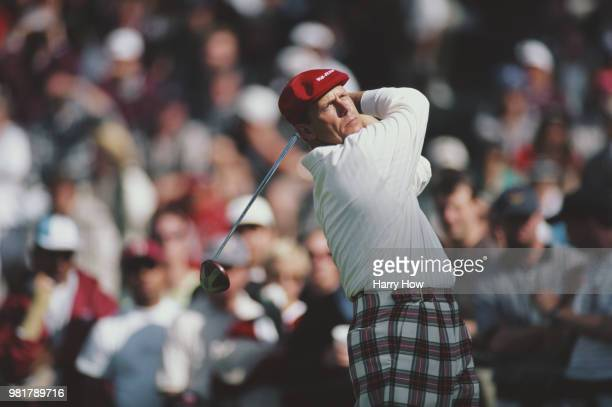 Payne Stewart of the United States keeps his eye on his shot during the 98th United States Open golf tournament on 18 June 1998 at the Olympic Club...