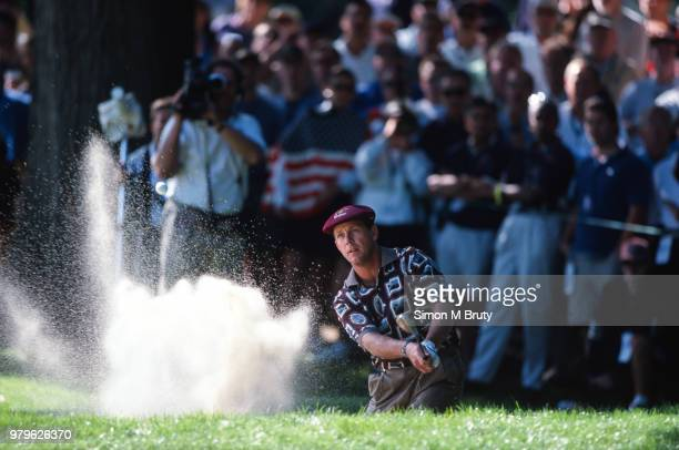 Payne Stewart of the USA in action during the Ryder Cup at The Country Club on the September 26th 1999 in Brookline Massachusetts