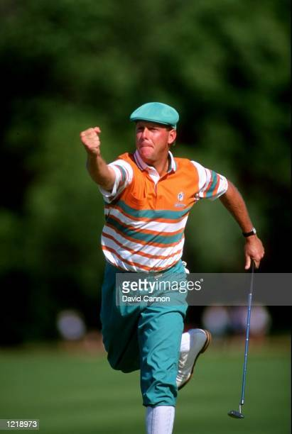 Payne Stewart of the USA in action during the US Open at Hazeltine National Golf Club in Minneapolis Minnesota USA Mandatory Credit David...