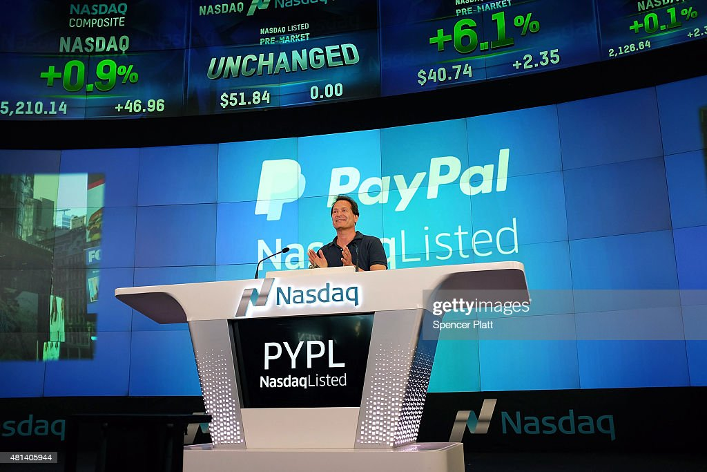 Paypal Ceo Dan Schulman Opens Trading On Nasdaq Exchange Photos And