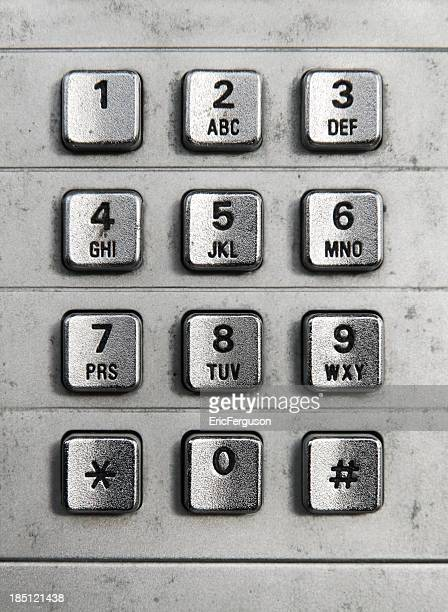 Münztelefon-Stahl Tastatur