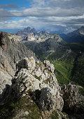 Paysage des Dolomites sur l'Alta Via 1