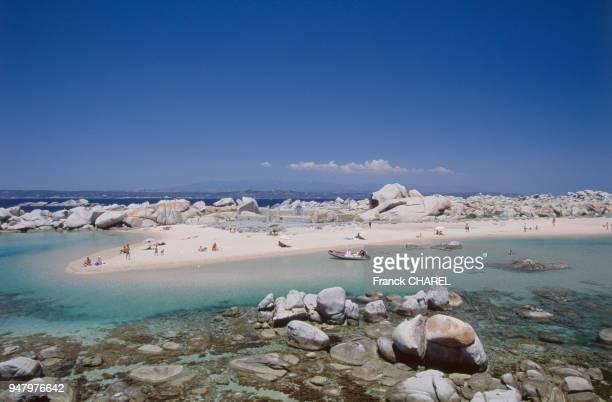 Paysage des îles Lavezzi en CorseduSud en juin 2003 France