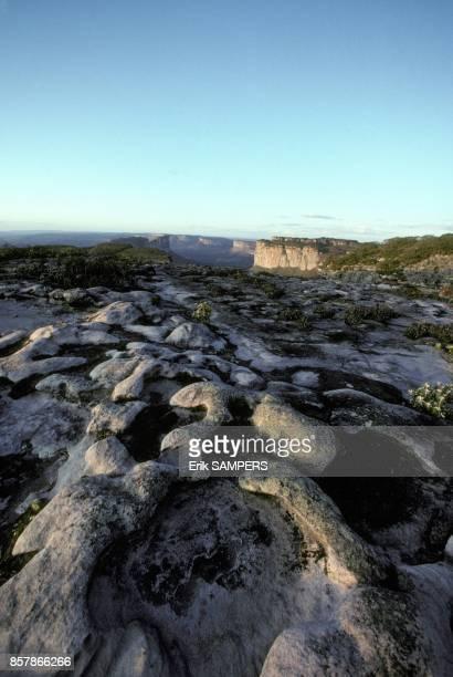 Paysage du parc national de la chapada Diamantina constitue de canyons et de hauts plateaux dans l'etat de Bahia en mars 1993 au Bresil