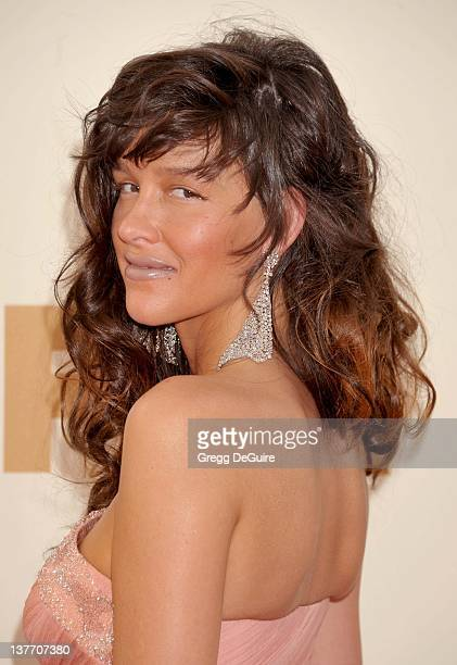 Paz de la Huerta arrives at the Academy of Television Arts Sciences 63rd Primetime Emmy Awards at Nokia Theatre LA Live on September 18 2011 in Los...