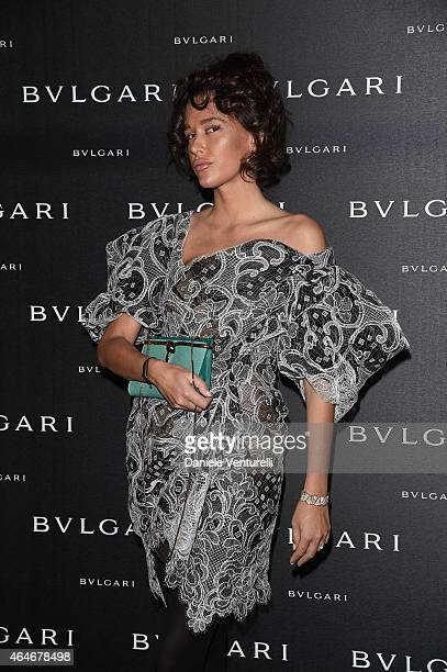 Paz de la Huerta attends the Bulgari Fall/Winter 2015 Accessories Presentation during the Milan Fashion Week Autumn/Winter 2015 on February 27 2015...