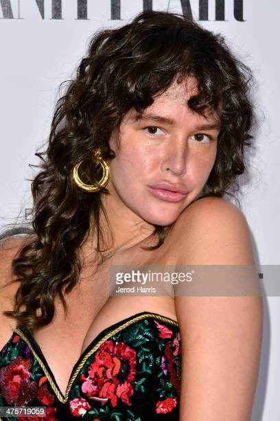 Paz de la Huerta attends the Vanity Fair Campaign Hollywood Kick Off at Sadie Kitchen and Lounge on February 28 2014 in Los Angeles California