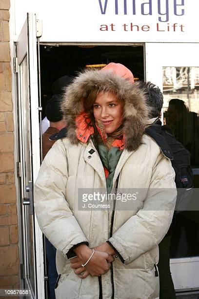 Paz de la Huerta during 2005 Park City Seen Around Town Day 4 at Park City in Park City Utah United States