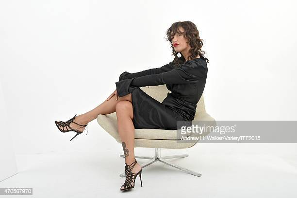 Paz de la Huerta from 'Bare' appears at the 2015 Tribeca Film Festival Getty Images Studio on April 20 2015 in New York City