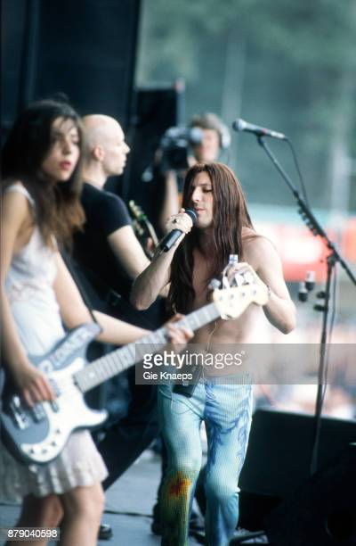 Paz Lenchantin A Perfect Circle Maynard James Keenan performing on stage Rock Werchter Festival Werchter Belgium 2nd July 2000