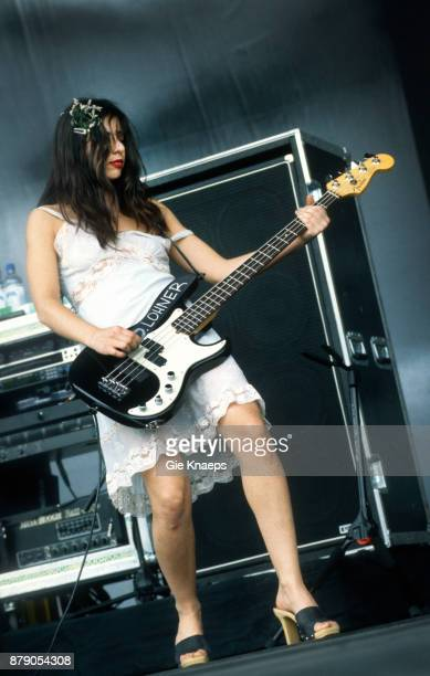 Image contains nudity Paz Lenchantin A Perfect Circle nipple slip performing on stage Rock Werchter Festival Werchter Belgium 2nd July 2000